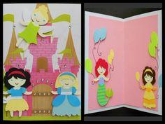 Handmade Disney Princess card using Once upon a Princess cricut cartridge
