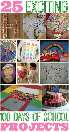 25 Best 100 Days of School Project Ideas, for related pins and resources follow https://www.pinterest.com/angelajuvic/best-teaching-ideas-resources/