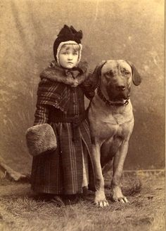 vintage everyday: 51 Adorable Photos Show That Dogs Have Always Been Children's Best Friends From Long Time Ago