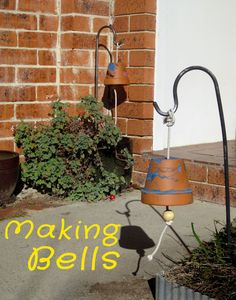 For our outdoor music-making! Simple materials and about 10 minutes should do it! Longer to decorate pots.