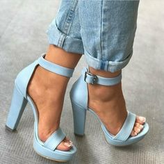 """Nothing makes your look stand out more than the perfect blue heels! High Heels Your """"True Blue"""" Heels For Any Occasion Women's Shoes, Me Too Shoes, Shoe Boots, Dress Shoes, Flat Shoes, Shoes Sneakers, Stilettos, Stiletto Heels, Cute Heels"""