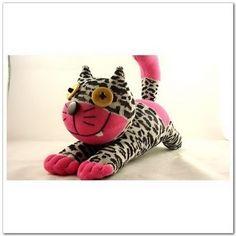 Handmade Sock Cheshire Cat Kitty Stuffed Animal Baby Toy. $10.99, via Etsy.