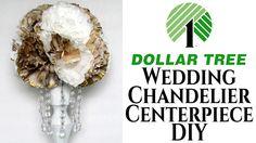 Wedding Chandelier Centerpiece | DIY Dollar Tree
