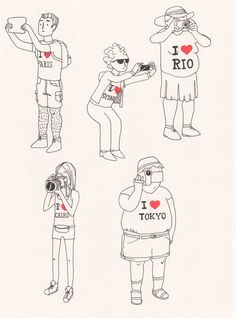 Tourist trap illustration by Lemon Lizzie