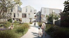 Proyecto de Residencia de Mayores que fomenta la Socialización https://www.dezeen.com/2016/11/17/haptic-designs-elderly-housing-clt-drobak-norway