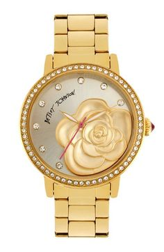 Molded Rose Dial Watch