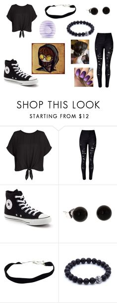 """""""Killing Spree"""" by ariettav ❤ liked on Polyvore featuring New Look, WithChic, Converse, Eos, creepypasta and ticcitoby"""