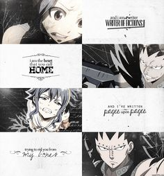 Gajeel x Levy.  I love this quote and it works so well with them