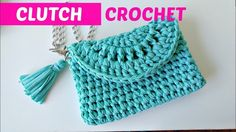 Crochet clutch or easy handbag