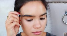 """Use an eyebrow """"mascara"""" instead of a brow powder and brush. 