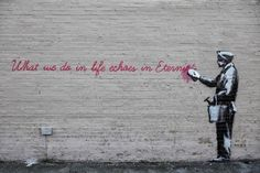 -Eternity- Street art in Queens, NYC, USA, by Banksy