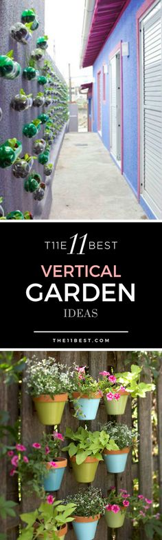 Vertical garden ideas. Wall garden ideas. Hanging garden directions. DIY tower garden