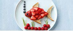 Driscoll\'s Strawberry & Almond Butter Tropical Fish Sandwich.  www.driscolls.com