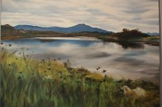 Nanaimo River Estuary and Mount Benson in background. Painted in oils 2011. 24 x 30