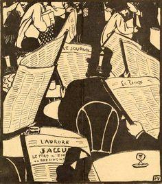Félix Vallotton, 'L'âge du papier', published in Le cri de Paris, 23 January 1898.