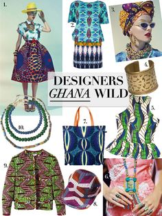 Designers Ghana Wild: African Fabrics, Fashions, and Design