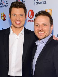 Star Tracks: Monday, May 12, 2014   BROTHERS IN ARMS   Does this mean there won't be another 98 Degrees reunion? Nick Lachey and little bro Drew promote their newest venture – an FYI show about a bar in Cincinnati – at Thursday's A&E Networks Upfront in N.Y.C.