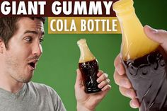 Giant Gummy Cola Bottle: 90 times larger than regular size ones!