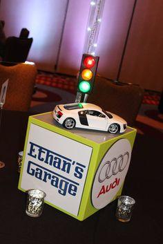 Themed Centerpieces - Car Themed Photo Cube