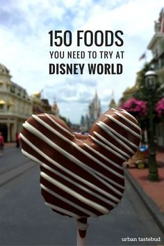 Here are 150+ foods and drinks that you must try during your visit to Walt Disney World! Disney On A Budget, Disney Vacation Planning, Disney World Planning, Disney World Vacation, Disney Vacations, Walt Disney World, Disney Travel, Usa Travel, Travel Tips