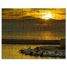 Where the boats are sleeping Puzzle on CafePress.com