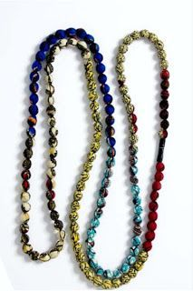 *DIY: How To Make A Fabric Bead Necklace