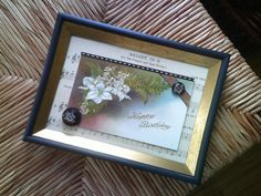 Vintage Birthday Postcard Frame Art Handmade by SweetAngelVintage, $10.00
