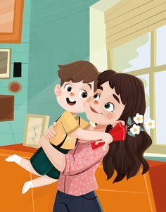 Family Illustration, Cute Illustration, Character Illustration, Family Drawing, Drawing For Kids, Art For Kids, Kid Character, Character Design, Principe William Y Kate