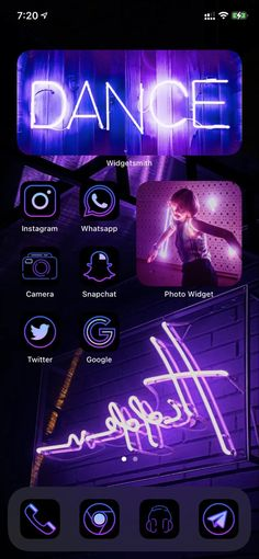 Iphone Life Hacks, Ios, App Background, Iphone App Layout, Iphone Design, Neon Wallpaper, Phone Organization, App Icon, Homescreen