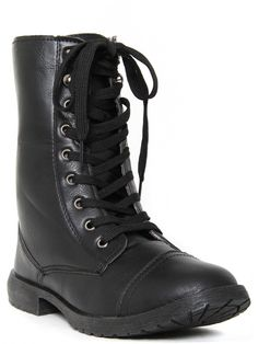 Black Floral Lined Combat Boot  Be the first to review this product $26.99 Style # 62568  Availability: In stock  Quick Overview: This combat inspired lace-up boot features faux leather and floral lining.  Imported