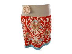 Süßes leichtes Sommerröckchen aus Baumwolle mit Hirschmotiv und dekorativer Saumblende! Das Röckchen hat ein elastisches Bündchen! Aufgehübscht m...