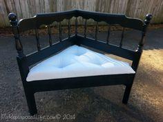 How to make a headboard corner bench using a full sized headboard.