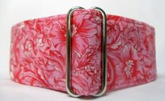 2.0 Pink and White Floral on Pink Cotton by CollarsByMickey, $12.00