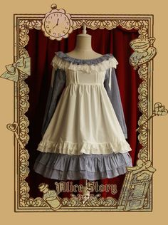 [Infanta.婴梵塔]Lolita*万能百搭小罩裙*Alice必备小围裙 可三穿-淘宝网