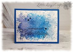Stamped Watercolor Background Maskulin Birthday Card Stampin' Up!