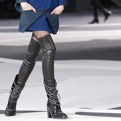Chanel f/w 2013 chain boots