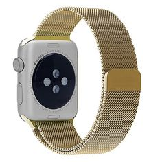 Juzi Milanese Stainless Steel Bracelet Magnetic Closure Clasp Loop Mesh Band for Apple Watch iWatch Sport & Edition 38mm