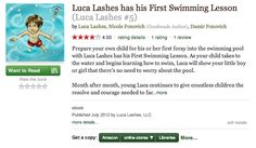 #LucaLashes is on Goodreads!  Check it out!  #eBook #swimming #toddler