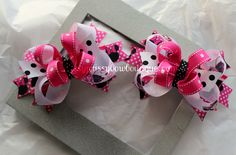 Custom #Minnie Mouse #Hairbows from missyprissybowboutique@yahoo.com