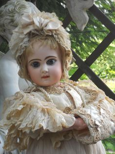 ~~~Reserve f. D. ~~~ Beautiful French Bisque BeBe Reclame by Jumeau ~~~