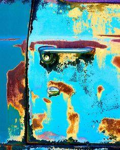 Rusted car door by RainyDays