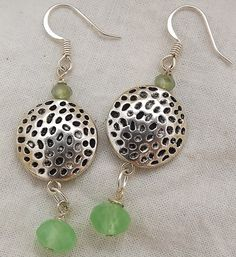 Light green and dimpled. by pebblesnglass on Etsy, $12.50