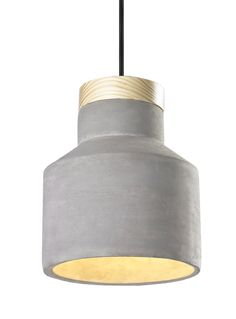 Matteo Lighting - - Industrial Collection - One Light Pendant - Concrete Pine Dining Lighting, Home Lighting, Lighting Online, Wood Pendant Light, Pendant Lighting, Concrete Color, Fabric Canopy, Building A New Home, Modern Chandelier