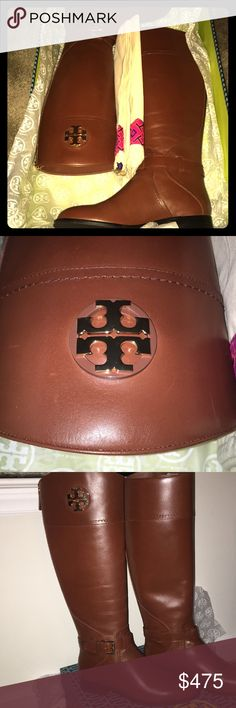 """*NIB* Tory Burch Adeline Riding Boots These are brand new, never worn Tory Burch 20 mm Riding Boots. Adeline style in Almond color. Size 7.5, 1"""" heel, super soft leather with gold hardware, stunning! Comes with dustcover bag as well. Tory Burch Shoes Heeled Boots"""