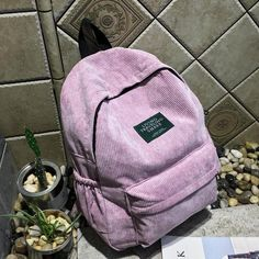 27aabae4f371 wenjie brother new arrival Autumn and winter corduroy backpack female  college backpack bag student backpack women backpack