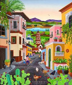 Stunning 'Mexican Art' Artwork For Sale on Fine Art Prints Mexican Artwork, Mexican Paintings, Mexican Folk Art, Art Caribéen, Art Et Nature, Posca Art, Caribbean Art, Naive Art, Abstract Art