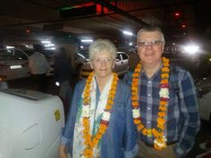 Mr. Gwyn Nicholas with His wife From #UK on #indiatour with #Imperialindiatours