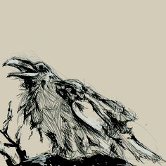 Quick Photoshop sketch of a crow. Crow, Sketch, Photoshop, Illustrations, Tattoo, Crows, Sketch Drawing, Tattoos, Drawings