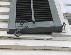 Historic shutters, louvered shutters, shutter hardware and hinges, shutter mounting and sizing. Vinyl shutters, Understand shutters for curb appeal. Cottage Shutters, Window Shutters Exterior, Outdoor Shutters, Louvered Shutters, Vinyl Shutters, Blue Shutters, Interior Shutters, Exterior Paint, Shutter Hinges