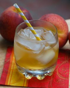 Fuzzy Fire 1 ounce Fireball Whisky ½ peach schnapps 3 ounces peach juice  Add the ingredients to a glass filled with ice. Mix well and serve.